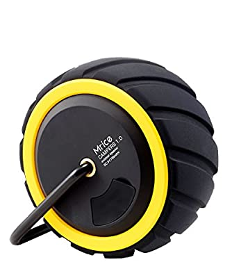Mrice Campers Tire Shape Portable Wireless Bluetooth Speaker Splashproof Outdoor Bluetooth Shower Speaker with 3W Strong Bass Driver,Built in Microphone-Yellow