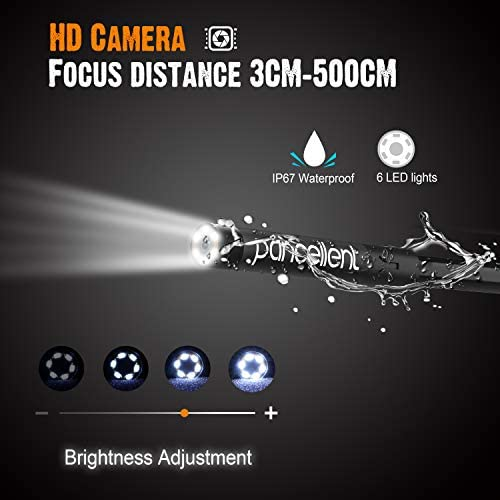 10FT 3 Metros Tarjeta de Memoria 32G Endoscopio Industrial Digital 1920X1080P videoscopio de boroscopio pancelente con c/ámara de inspecci/ón Impermeable IP67 Pantalla LCD a Color de 4.3 Pulgadas