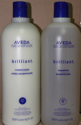 Aveda Brilliant Shampoo 33.8 oz & Conditioner 33.8 oz Duo Liter