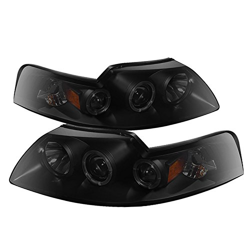 Spyder Auto PRO-YD-FM99-1PC-AM-BSM Ford Mustang LED Halo Projector Headlight
