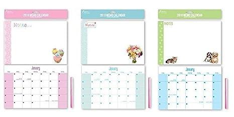 Calendario Scrivibile.2018 Costolina A Spirale Lavagnetta Calendario Scrivibile