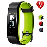 Lintelek Fitness Tracker HR, Updated Version Activity Tracker Color Screen, IP68 Waterproof Fit Watch with Sleep Monitor, Pedometer Smart Watch for Women, Men and Kids