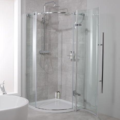 Mampara de ducha 900 x 900 cristal 6 mm: Amazon.es: Bricolaje y ...
