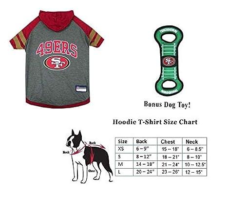 59b237fa0 Amazon.com   PF San Francisco 49ers Combo Dog Hoodie T-Shirt  Medium ...