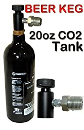 Trinity Portable Co2 System for Bar Keg Draft Beer Tap Kegerator, Home Beer Brewing Co2 Tank, Portable 20oz Co2 Tank for Beer Keg, Portable Co2 Tank for Beer Kegerator.