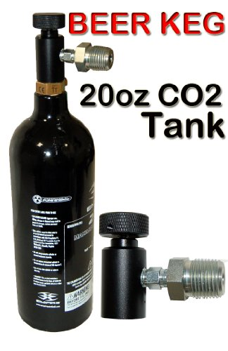 Tap 20 Thru (Trinity Portable Co2 System for Bar Keg Draft Beer Tap Kegerator, Home Beer Brewing Co2 Tank, Portable 20oz Co2 Tank for Beer Keg, Portable Co2 Tank for Beer Kegerator.)