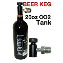 Trinity Portable Co2 System for Bar Keg Draft Beer Tap Kegerator, Home Beer Brewing Co2 Tank, Portable 20oz Co2 Tank for Beer Keg, Portable Co2 Tank for Beer Kegerator. by TRINITY SUPPLY