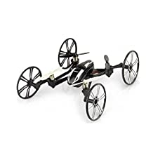 PowerLead Elite 6-Axis Gyro RC Quadcopter 2.4Ghz 4-in-1 RC Drone Quadcopter RC Flying Car Remote Control Drone with HD Camera - Black