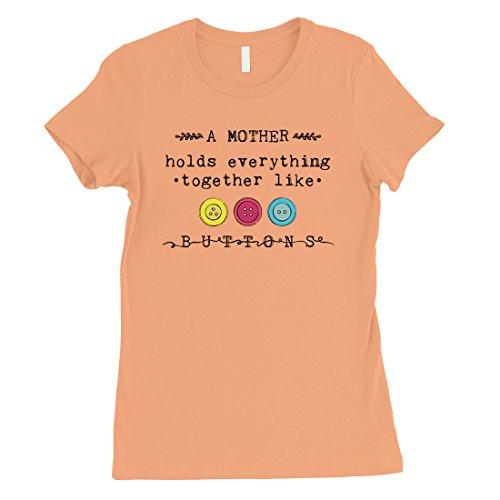 Courtes Femme Shirt Printing 365 Manches Pêche a0UOOZ