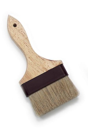 Royal Industries Bastry Brush, Wood Handle, Natural Boar Bristle, Plastic Band, 4'', Commercial Grade
