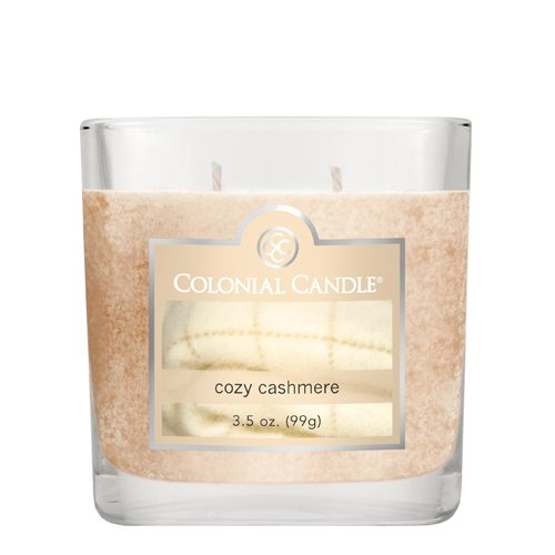 Colonial Candle 3-1/2-Ounce Scented Oval Jar Candle, Cozy (Cozy Cashmere)
