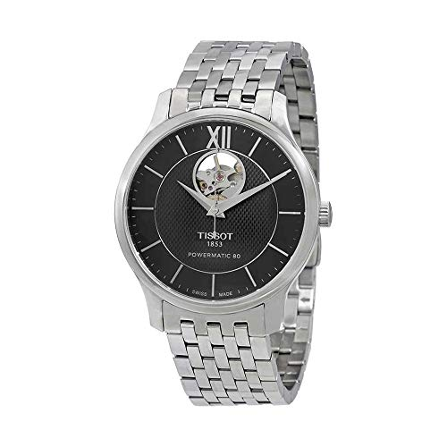 Tissot Men's Tradition Powermatic 80 Open Heart - T0639071105800 Black/Grey One Siz
