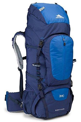 High Sierra Sentinel 65L Internal Frame Backpack, True Navy/Royal/True - High Sling Sierra