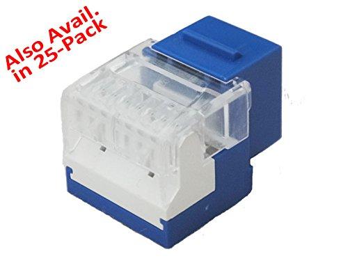 Dynacom Single-Row ET Cat5E Data Jack, 25pc.-Pack - White (10605ET25-WH) by Dynacom