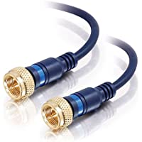 C2G/Cables to Go 27227 Velocity Mini-Coax F-type Cable, Blue  (6 Feet)