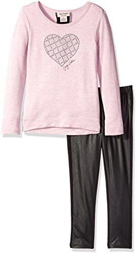 Leather Juicy Couture Pink (Juicy Couture Little Girls' Toddler High-Low French Terry Tunic and Pant Set, Pink, 4T)