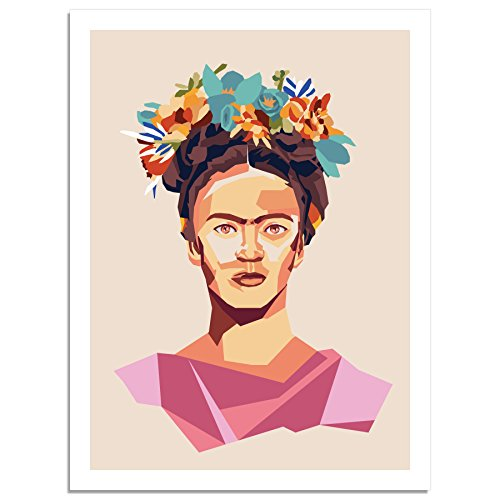 Kindred Sol Collective Graphic Art Poster Print of Frida Kahlo Portrait Wall Art Poster Decor for Living Room Mexican Culture Inspiration (18