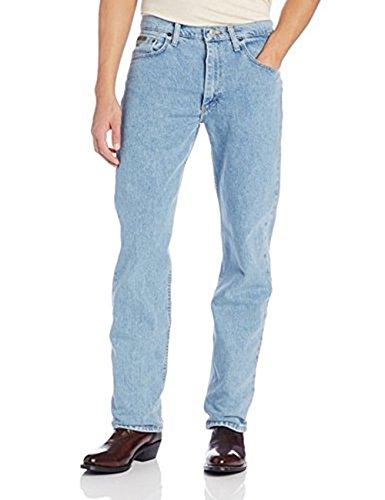 Fit Regular Jeans Genuine Wrangler (Wrangler Men's Jeans Regular Fit Jeans for Men - Mens Jeans Genuine Jean (33X30, Light Denim))