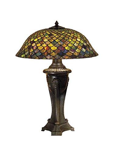 Tiffany Scale - Meyda Tiffany 31115 Fishscale Table Lamp, 30