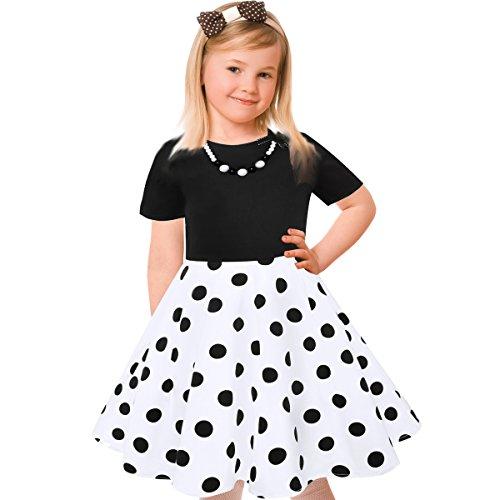 New Black White Dress - 6
