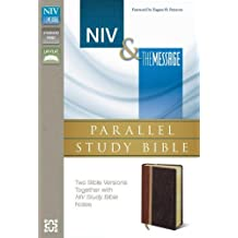 NIV, The Message, Parallel Study Bible, Leathersoft, Brown/Red: Two Bible Versions Together with NIV Study Bible Notes