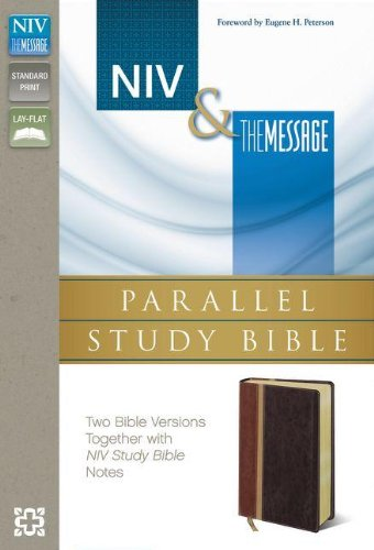 NIV, The Message, Parallel Study Bible, Leathersoft, Brown/Red: Two Bible Versions Together with NIV Study Bible Notes by HarperCollins Christian Pub.