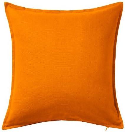 Mequib Com 50 X 50 Cm Federa Per Cuscino Arancione Ikea Gurli Tessili Per La Casa Federe