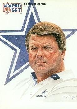 Jimmy Johnson Football Card (Dallas Cowboys) 1991 Pro Set #405