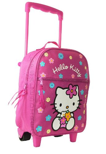 049d703778 Hello Kitty Flowers Girls Wheeled Bag Trolley Case Travel Hand Luggage  Backpack Pink - New  Amazon.co.uk  Kitchen   Home