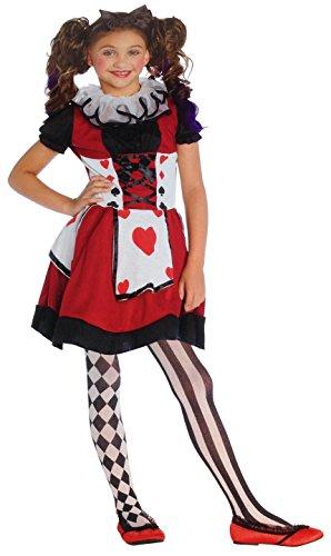 Girls Playing Card Cutie by Wonderland Costumes L (10-12) Halloween Costume (Playing Card Costumes)