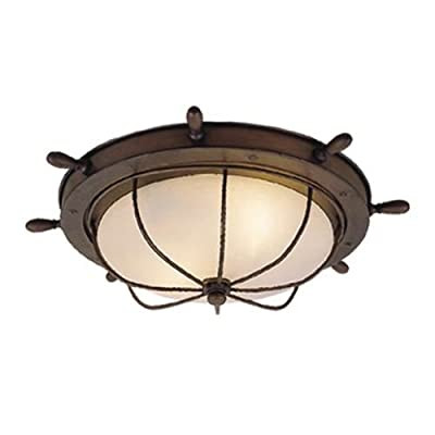 Vaxcel Lighting OF25515 Orleans 2 Light Flush Mount Outdoor Ceiling Fixture with,