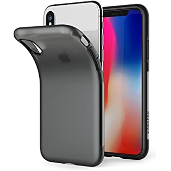 Anker iPhone X Touch Case Matte Finish Flexible Soft Gel TPU Cover Shell Skin KARAPAX [Support Wireless Charging] [Thin Slim Fit] [Anti Scratch] for Apple 5.8 In iPhone X - Black