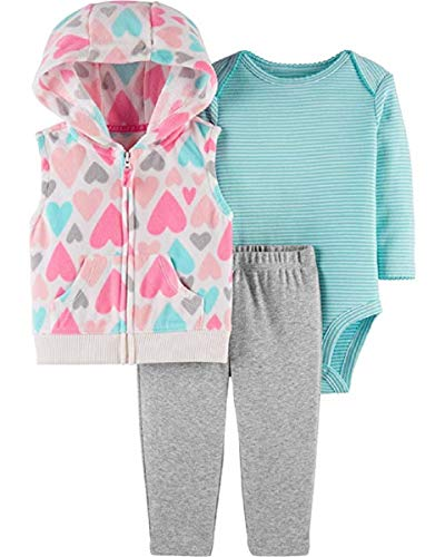 Carter's Baby Girls' 3 Piece Vest Little