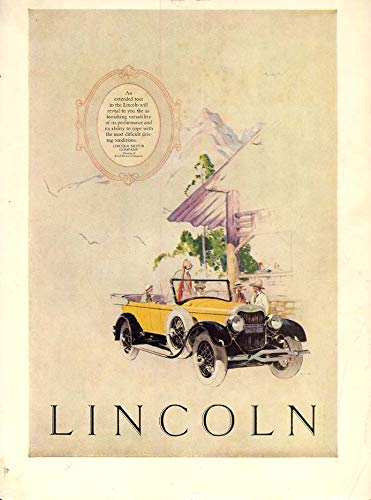 An extended tour will reveal - Lincoln Dual-Cowl Phaeton ad 1925 CL