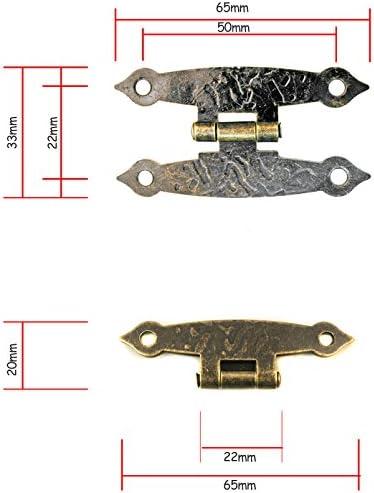 Haute Qualité Rétro Vintage Charnières Décoratives Pour Armoire Placard Porte Gate 026