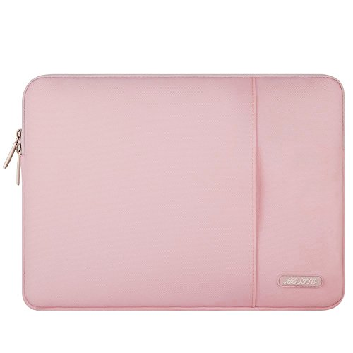 MOSISO iPad Air 3 10.5 2019 Sleeve Case, Compatible 9.7-11 Inch iPad Pro, Surface Go 2018, iPad Air 2/Air(iPad 6/5), iPad 1/2/3/4 Water Repellent Polyester Vertical Tablet Bag with Pocket, Pink