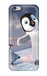 Rugged Skin Case Cover For Iphone 6 Plus- Eco-friendly Packaging(2011 Happy Feet 2)