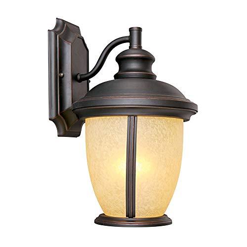 Design House 517599 Bristol 1 Light Indoor/Outdoor Wall Light, Oil Rubbed Bronze
