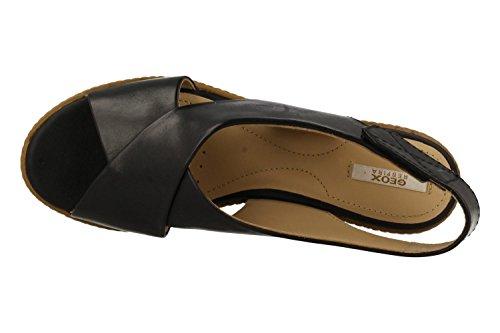 GEOX SANDALES 00043 D621XA C9999 DOMEZIA NEGR 39 Noir