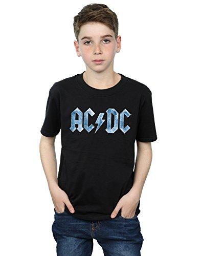 AC/DC Boys Blue Ice Logo T-Shirt 7-8 Years (Ac Dc Crew T-shirts)