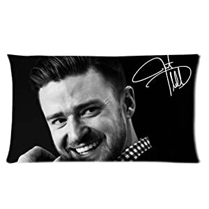 Generic Personalized Famous Singer Music Star Justin Timberlake Smile Classic Signature Design Sold By Too Amazing Pillowcase Rectangle Pillow Case 20x36 (one side)