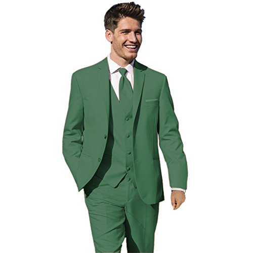 MYS Men's Custom Made Bridegroom Wedding Tuxedo Suit Pants Vest Tie Set Green