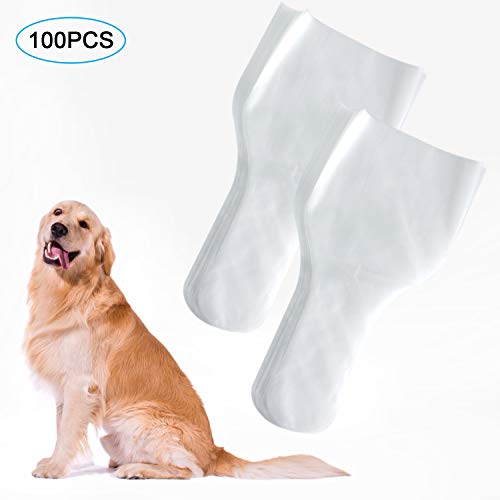 Together-life 100Pcs Canine Semen Collection Cones, Disposable Canine Artificial Insemination Cones Dog Semen Collection Bag