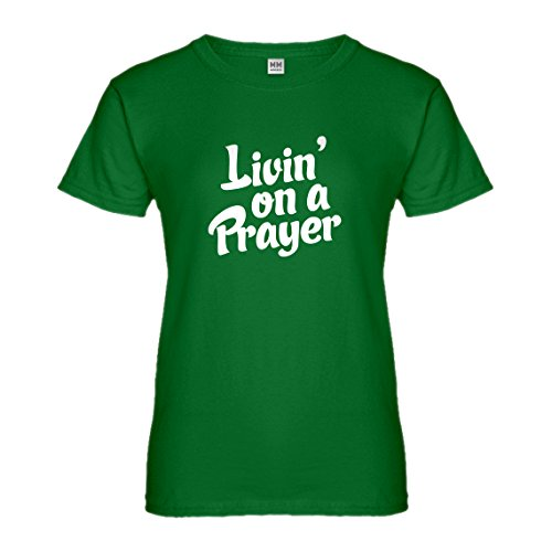 Jesus Freak Costume (Womens Living on a Prayer Large Kelly Green T-Shirt)