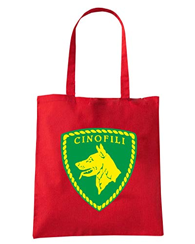 Speed Shirt Borsa Shopper Rossa TM0591 POLIZIA CINOFILI
