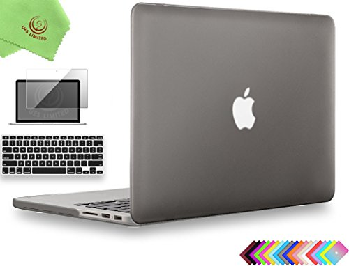 UESWILL 3in1 Smooth Soft-Touch Matte Hard Shell Case Cover for MacBook Pro 13