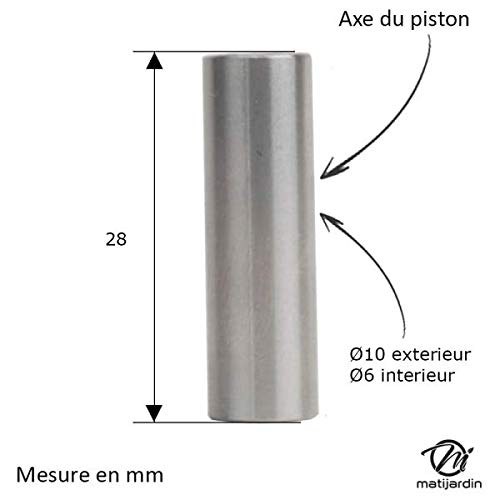 Cilindro Pistón para desbrozadora. Diámetro 40 mm. Para ...