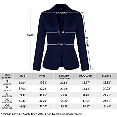 MINTLIMIT Blazers for Women Casual Long Sleeve Open Front Cardigan Work Office Blazers Jacket with Pockets at Women's Clothing store