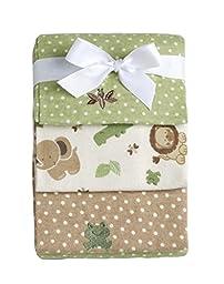 Little Bedding by No Jo Newborn Boys Safari Baby Flannel Receiving Blankets