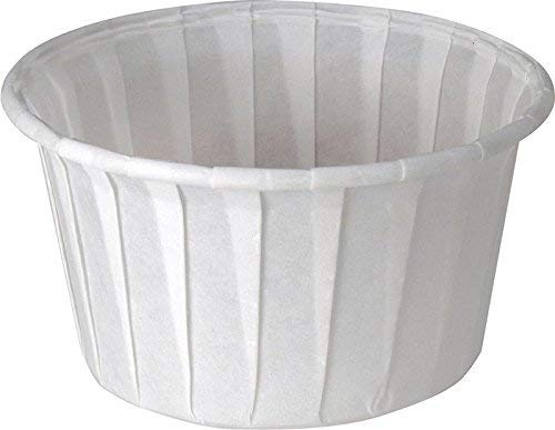 Solo 4.0 oz Treated Paper Souffle Portion Cups for Measuring, Medicine, Samples, Jello Shots (Pack of 250) by Solo